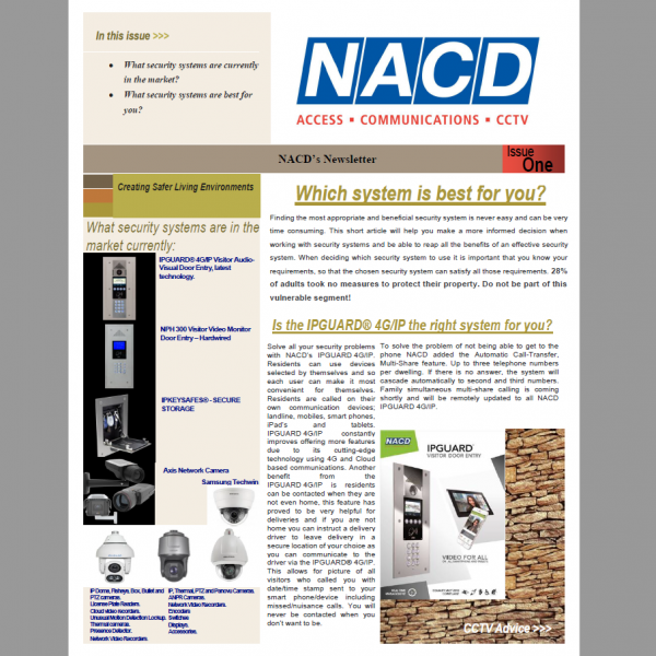 NACD's Newsletter First Issue